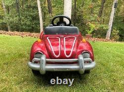 RARE! Vintage VW Volkswagen Beetle Pedal Car Junior Sportster Red VW