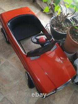 RARE Vintage original metal pedal car mercedes 2300 Young Master