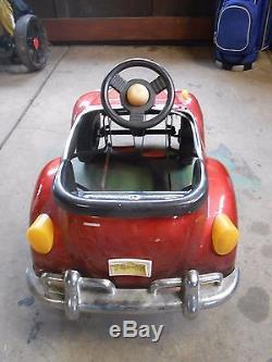 Red Childrens Working Vintage Vw Beetle Junior Sportsters Pedal Car Very Nice
