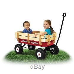 Radio Flyer All Terrain Steel & Wood Classic Red Wagon Vintage Kids New Hvy Duty