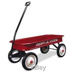 Radio Flyer Classic Red Wagon Vintage Steel Kids Toy Outdoor Ride Pull Full Size
