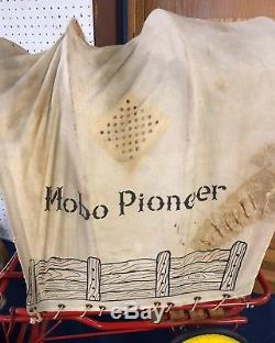 Rare Mobo Pioneer Pedal Car 1949 Covered Wagon Free Shipping Original Vintage