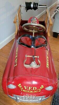 Rare No. 2 Pedal Car Vintage 1970 Gearbox Pedal Car FIRE TRUCK No. 2