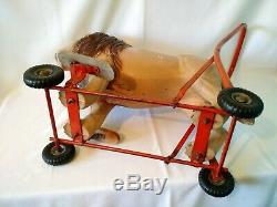 Rare Vintage 1950s Tri-ang L. Bros LTD. Childrens Ride-on Lion Push Toy