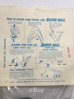 Rare Vintage 1965 NOS Wham o Whamo Super Ball superball Unopened