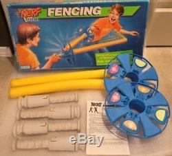 Rare Vintage 1980s Nerf Fencing Set Game Complete Handles Hilt Blades Swords