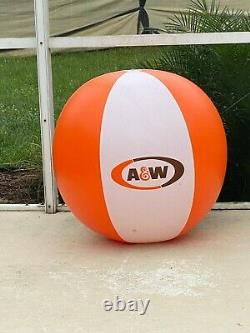 Rare Vintage 1983 A&W Root Beer 48in Beach Ball Inflatable Store Display Sign
