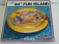 Rare Vintage 1986 Intex 84 Fun Island Inflatable Swimming Pool Raft New In Box