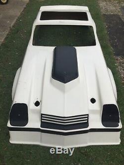 Rare Vintage 2nd Gen Camaro Go Kart Cart Fiberglass Body White Firebird Iroc