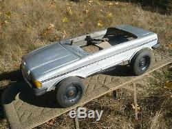 Rare Vintage 80's Mercedes 500 SEL Pedal Car 1989