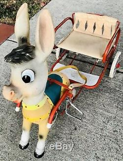 Rare Vintage Donkey Sit-on Pedal Cart Peddle Car Gumont Bologna Italy Works