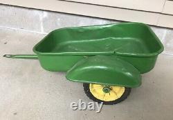Rare Vintage Eska Pedal Tractor Trailer 1950's Fender Wagon John Deere Green