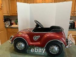 Rare Vintage Junior Sportster VW Volkswagen Beetle Bug Pedal Car Big Red TS-110