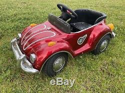 Rare Vintage Junior Sportster VW Volkswagen Beetle Pedal Car Big Red
