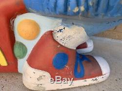 Rare Vintage McDonalds Fry Guy/ Girl Playground Spring/ Carousel Rider Ride #1