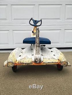 Rare Vintage Murray Atomic Missile Pedal car
