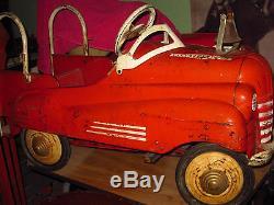 Rare Vintage Original Paint 1941 Pontiac Pedal Car