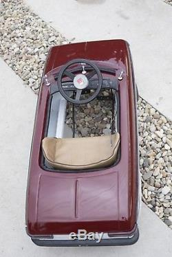 Rare Vintage Russian Metal Restorated Pedal CAR MOSKVICH MOSKVITCH 1958