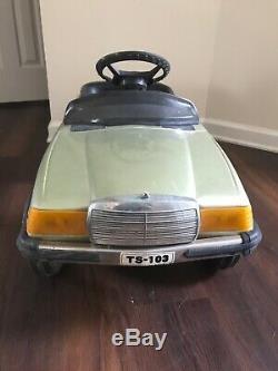 Rare retro Vintage Mercedes Benz 500 sec convertible kids toy Electric Pedal Car