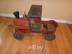 Rare vintage casey jones cannon ball express no. 9 peddle car