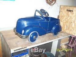 Rebuilt original vintage Garton pedal car (1937 Ford convertible style)