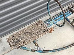 SUPER RARE Vintage Childrens Teeter Totter Painted Metal Wood Seats Playground