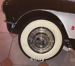 Super Unique Hi Detail 57 Corvette Fuelie Pedal Car Vintage, Never Played With