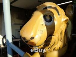 Unbranded Resin Fiberglass Lion Like Saddle Mates Vintage Swing Playground Ride