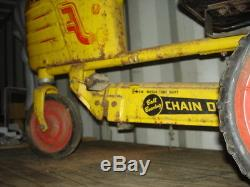 VERY RARE VINTAGE METAL MURRAY TRACTOR BALL BEARING CHAIN DRIVE DUAL TONE PEDDLE