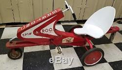 VINTAGE 1950's GARTON SPIN A ROO PEDAL CAR ORIGINAL AND COMPLETE
