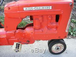 VINTAGE 1950's RARE ESKA ALLIS-CHALMERS CAST ALUMINUM PEDAL TRACTOR CAR D-17