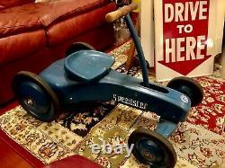 VINTAGE 1959 GARTON Speedster Push & Pull (Blue)