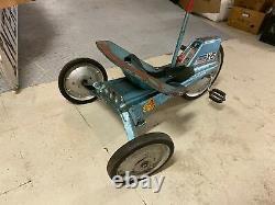 VINTAGE 1960'S MATTEL X-15 VRROOM! Pedal CAR Original Big Wheel Seat Belt Unres