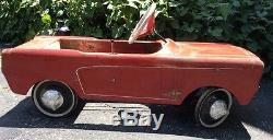 VINTAGE 1960's FORD MUSTANG AMF PEDAL CAR