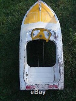 VINTAGE 1960s MURRAY BOAT PEDAL CAR ORIGINAL RARE
