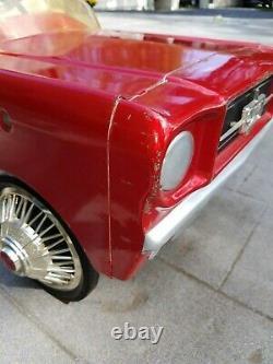 VINTAGE 1965 MUSTANG PEDAL CAR, FORD DEALER PROMO! ORIGINAL and UNRESTORED