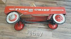 VINTAGE AMF FIRE CHIEF PEDAL CAR # 503 Nice CONDITION