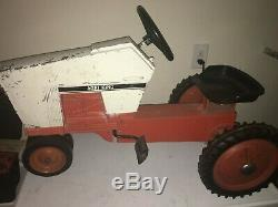 VINTAGE CASE AGRI KING ERTL PEDAL TRACTOR JI CASE with Rare Wagon Cart