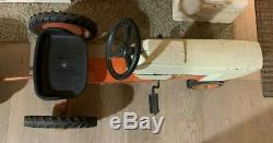 VINTAGE CASE AGRI KING ERTL PEDAL TRACTOR JI CASE with Rare Wagon Cart