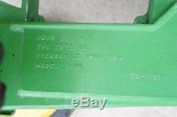 VINTAGE ERTL D-55 JOHN DEERE 20 PEDAL CAR TRACTOR With DEERE TRAILER FARM TOY