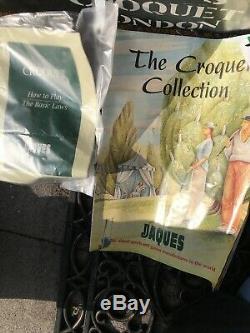 VINTAGE JACQUES OF LONDON 71420 Quality CROQUET SET