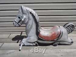 VINTAGE J E Burke Co Playground Rocking Horse Spring Ride Aluminum