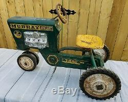 Vintage Murray Diesel 2 Ton Tractor Ride On Pedal Car-