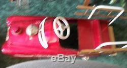 VINTAGE NICE ORIG 1950-60's FULL SIZE GARTON FIRE TRUCK PEDAL CAR, L@@K