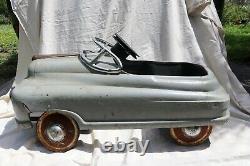 VINTAGE ORIGINAL 1940s MURRAY COMET (BUICK) V12 TORPEDO PEDAL CAR, RARE, RARE