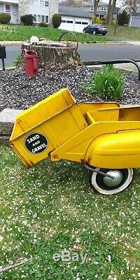VINTAGE ORIGINAL 1950's MURRAY PEDAL CAR DUMP TRUCK #742 jet-flow drive