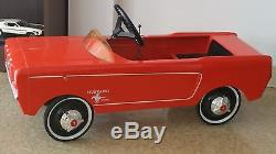 Vintage Original 1964 1/2 Ford Fomoco Red Mustang Pedal Car (awesome) Must See