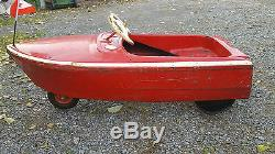 Vintage Pedal Car Boat 1960 1968 Must See