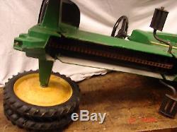 Vintage Pedal Tractor Ride On Toy Ertl 520 John Deere Green Restore Duel Rear