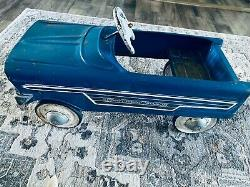 VINTAGE RARE'SPORTCREST WAGON' PEDAL CAR MURRAYBLUE 1950's-1960's